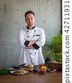 Confident professional chef in uniform  42711931