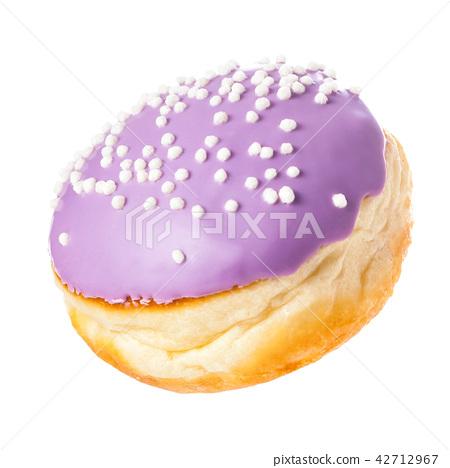 Sweet donut for tea for breakfast isolate on white 42712967