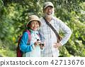 คู่รักอาวุโสชาวญี่ปุ่นกำลังดูนก 42713676