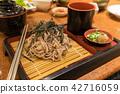 soba set Japanese food 42716059