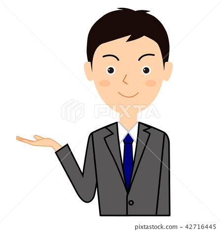Illustration material of a young businessman 42716445
