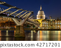 St paul cathedral with millennium bridge 42717201
