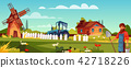Farmer man at agriculture farm vector illustration 42718226