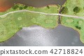 aerial view drone shot of golf course 42718824
