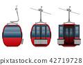 cabin ski cableway vector illustration 42719728