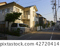residential area, crossing, intersection 42720414