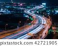 고속도로, 도시, 밤 42721905