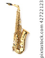 saxophone isolated on the white background 42722123