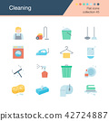 Cleaning icons. Flat design collection. 42724887