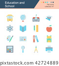 Education and School icons. Flat design. 42724889