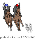 businessman on horse competition vector 42725667