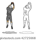 American football player Number three jumping  42725668