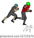 American football player running with the ball 42725670