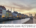 Skyline at Nyhavn harbour, Copenhagen Denmark 42726012