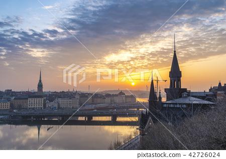 Sunrise skyline at Gamla Stan, Stockholm Sweden 42726024