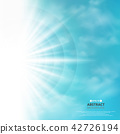 Abstract of blue sky with sun burst in side 42726194