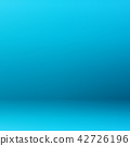 Abstract of blue gradient room background. 42726196