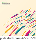 Abstract of colorful stripe pattern background. 42726229