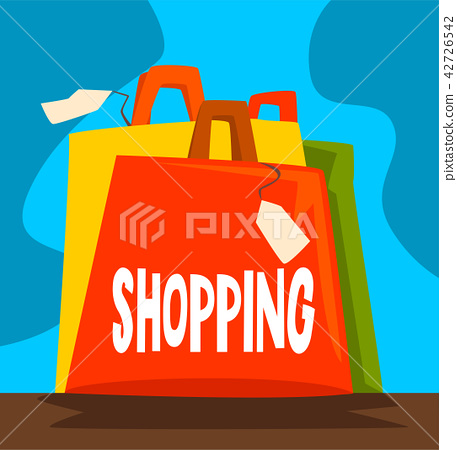 Shopping dependence, bad habit and addiction of modern society vector Illustration 42726542