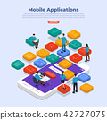 mobile, application, isometric 42727075