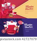 Movie cinema banner design 42727079