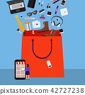 Online shopping bag 42727238