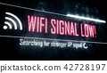Wi-Fi signal low, searching for stronger signal 42728197