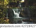 High mountain waterfall 42728427