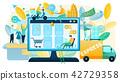 Buying Goods on Sale in Online Shop Vector Concept 42729358