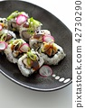 sushi, chicken teriyaki, makizushi 42730290