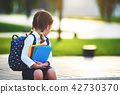 child girl schoolgirl elementary school student 42730370