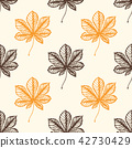 Autumn pattern with chestnut leaves 42730429