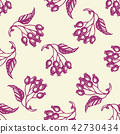 Seamless pattern with berries and leaves. 42730434