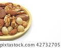 堅果,各種堅果的盤子 42732705