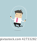Businessman is jumping rope. 42733282
