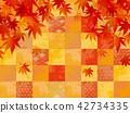 단풍, 가을, 일본풍 무늬 42734335