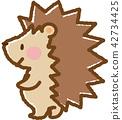 刺猬 動物 笑容 42734425