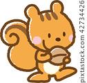 松鼠 動物 矢量 42734426
