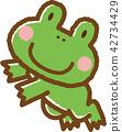 青蛙 動物 笑容 42734429