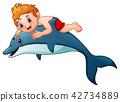 动物 男孩 儿童 42734889