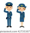警察 敬礼 人 42735307