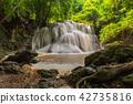 Huai Mae Kamin, beautiful waterfall 42735816
