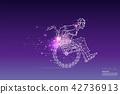 The geometric art of business man on wheel chair 42736913