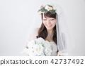 有花束的新娘 42737492