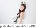 有花束的新娘 42737499