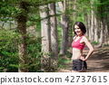 female, forest, people 42737615