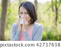 woman with sick in winter 42737638