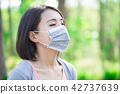 woman get sick 42737639