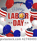 Labor day background 42740493