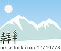 설산, 눈, 스노우 42740778